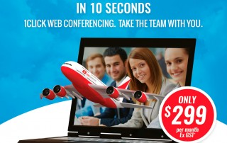 Qantaslink Huddle Room 1 Click Web Conferencing