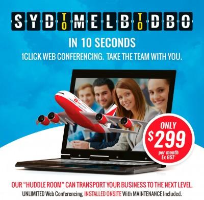 Qantaslink Huddle Room 1 Click Web Conferencing