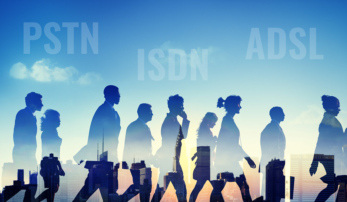 PSTN, ISDN and ADSL