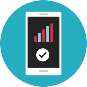 Mobile phone data icon