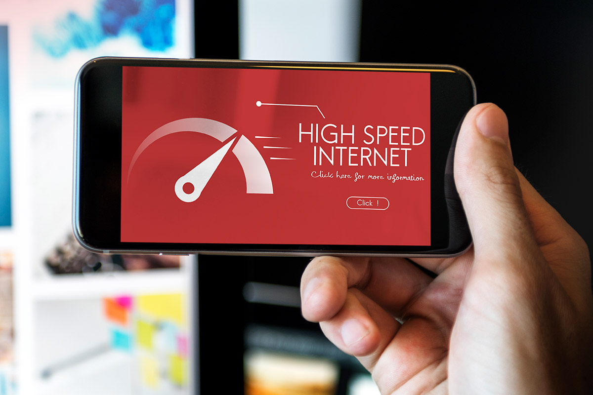 High speed internet on phone