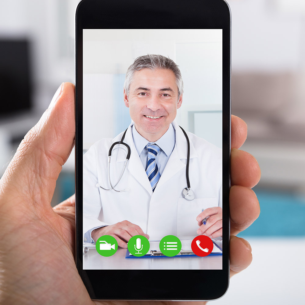 Dr consultation on smartphone