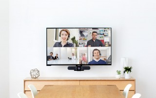 Video conferencing setup in office